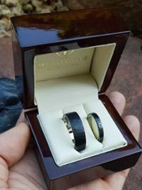 andrea and akos stainless wedding ring