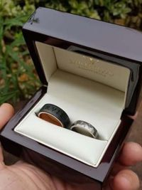 bernadett and zoltans titanium and stainless steel wedding rings