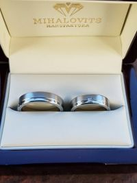 cintia and laszlos stainless steel wedding rings