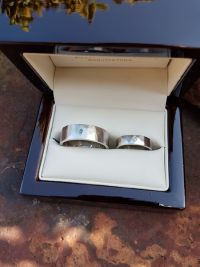 katalin and gabors forged platinum wedding rings