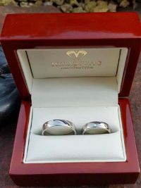 marianna and laszlos st steel wedding rings