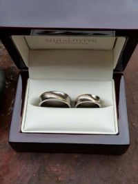 rebeka and andrass titanium wedding rings