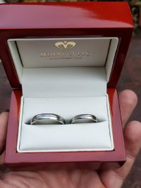 timea and gabors stainless steel wedding rings