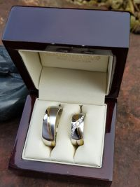 timea and norberts stainless steel wedding rings