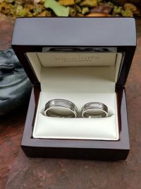 zsuzsanna and istvans stainless steel wedding rings
