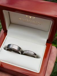 ajna and zsolts titanium wedding rings