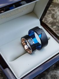 b z titanium and stanless steel wedding rings