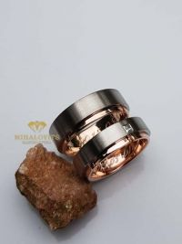 bianka and andras gold titanium wedding rings