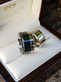 janka and stainless steel wedding ring