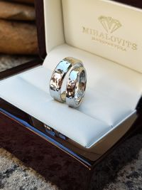 lili and mark stainless steel wedding ring