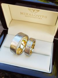 monika and daniels stainless steel gold wedding ring