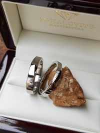 zsofi and benedek  titanium stainless steel wedding rings