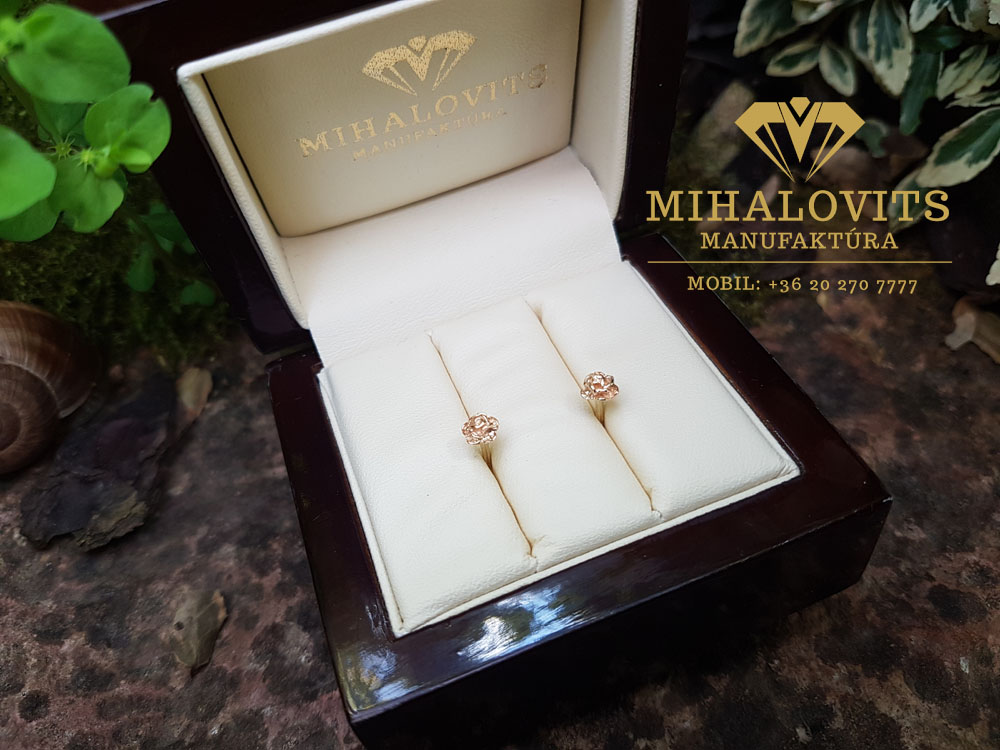 Gold earrings Rose