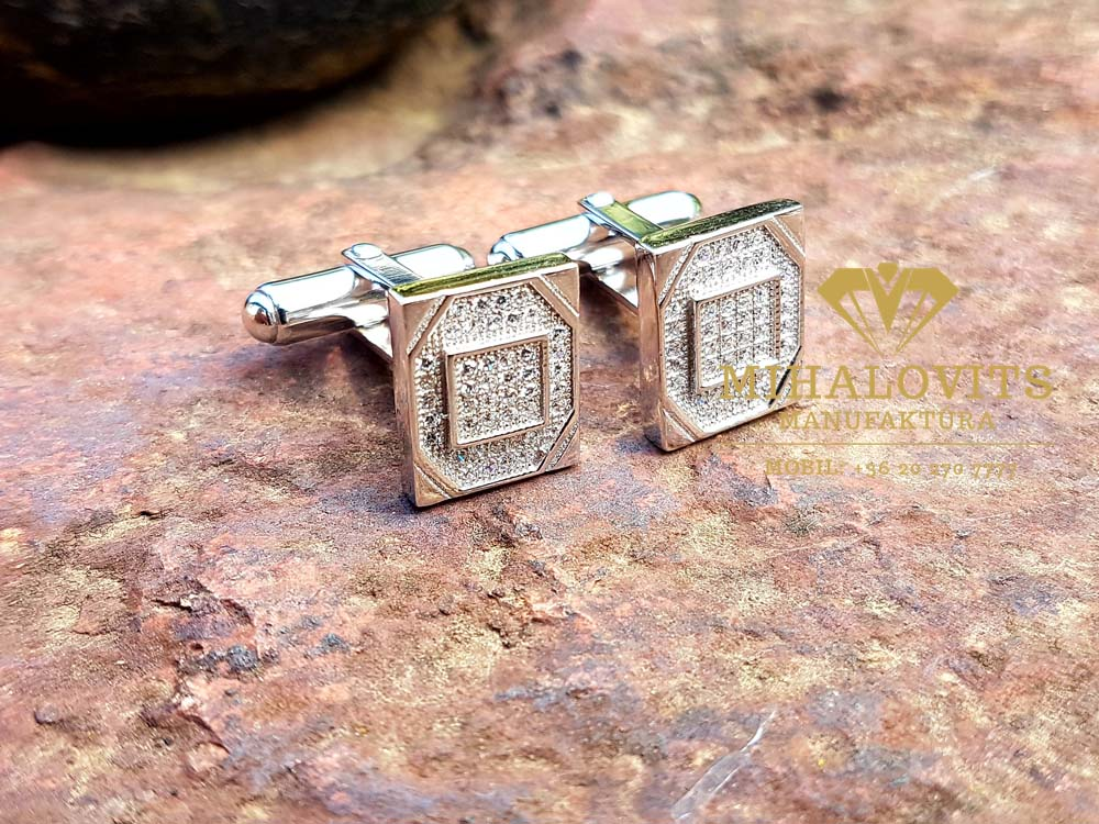 Handmade silver cuff-links
